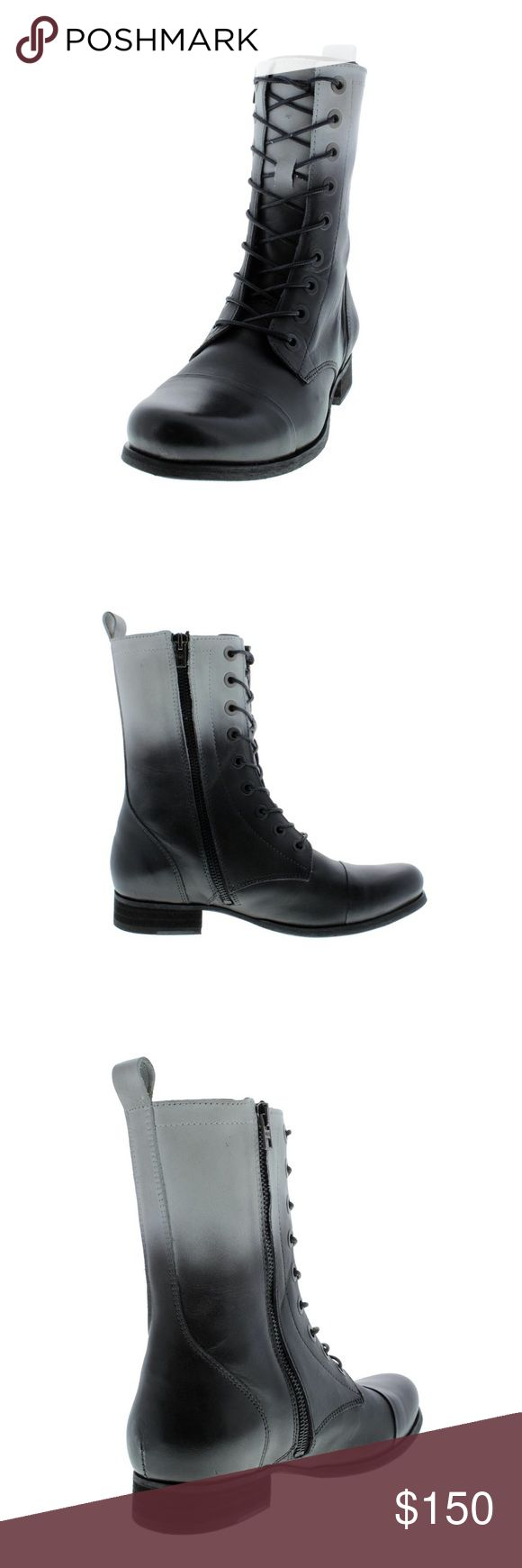 DIESEL The Wild Land Arthik Leather Combat Boots DIESEL The Wild Land Arthik Leather Combat Boots Black white Size 9 Lace Up Diesel Shoes Ankle Boots & Booties