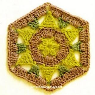 Crochet Hexagon Granny Chart