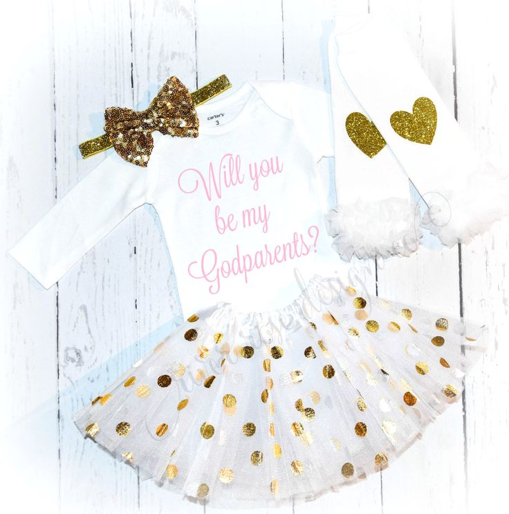 A personal favorite from my Etsy shop https://www.etsy.com/listing/485586314/godparents-outfit-godfather-godmother