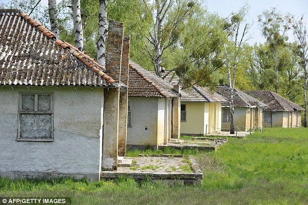 Abandoned: Accommodation at Adolf Hitler's 'Peace Village' built for the 1936 Olympic Games in Elstal, west of Berlin, was later used as barracks for the German army                                                                                                                                                                                 Mais