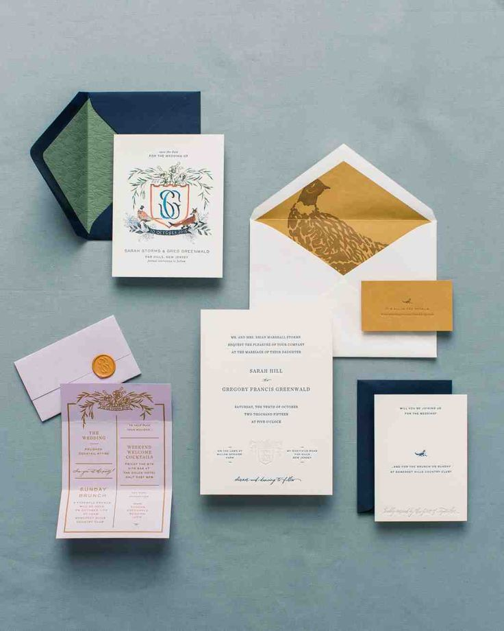 small wedding ceremony invitations%0A A Charmingly Bespoke Fall Wedding in New Jersey   Martha Stewart Weddings   The letterpressed suite