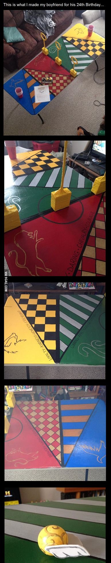 1000 images about harry potter crafts on pinterest for Table quidditch