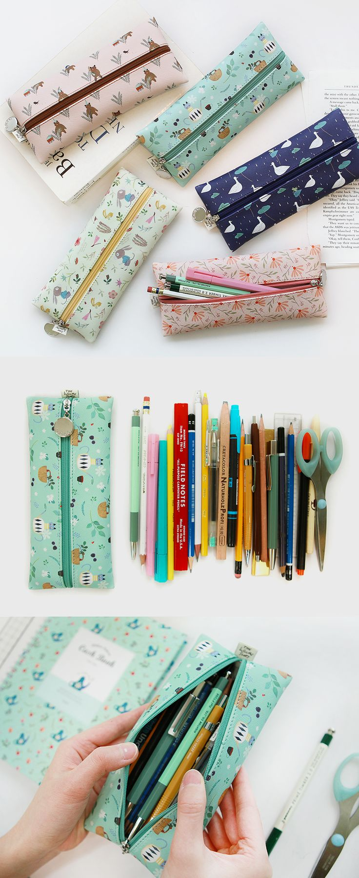 This flat pen case with adorable patterns is a pen case you'd definitely want to carry with you at all times!