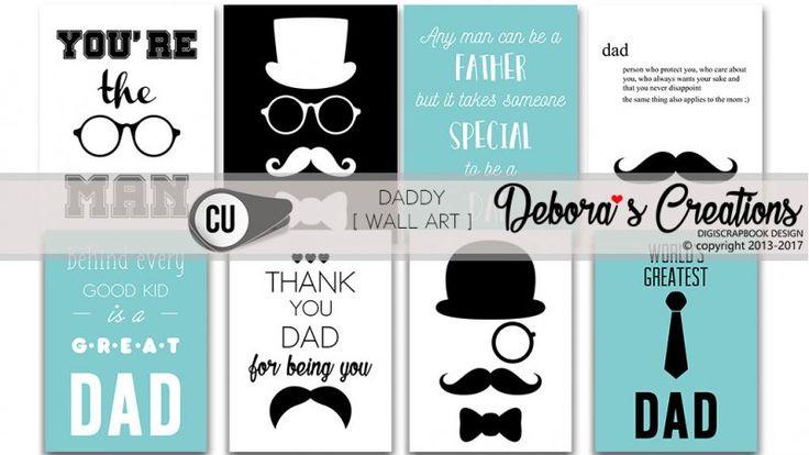 Daddy Wall Art by Debora's Creations CU