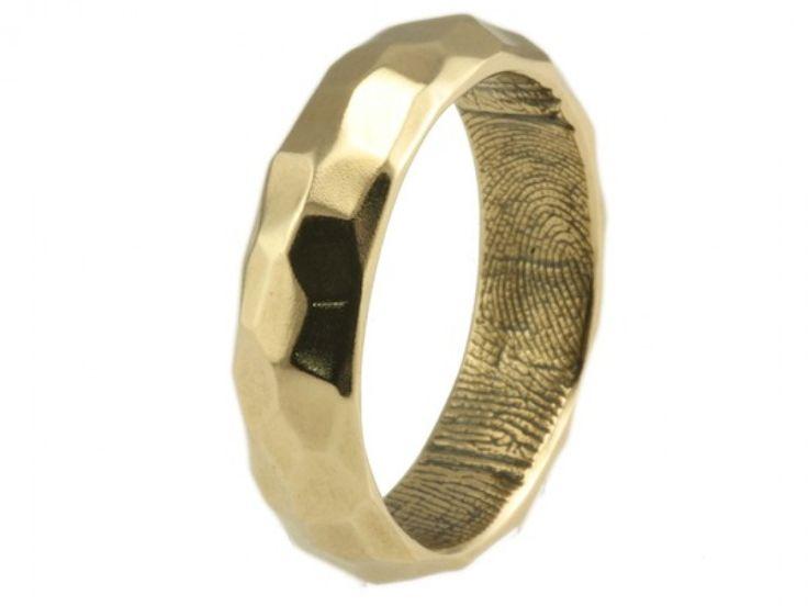 Stunning Brent u Jess Fingerprint Wedding Rings Custom Handmade