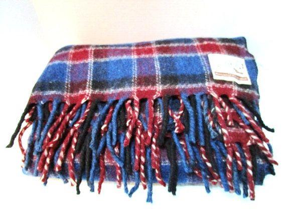 Vintage Karakul Sheep Wool Blanket Ex Lrg Burgundy by junquegypsy