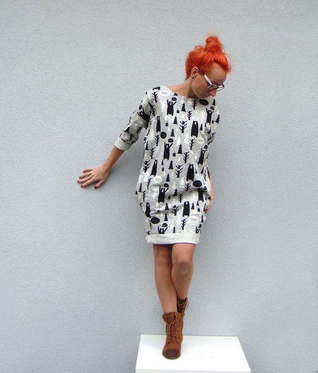 Oversize Snow-Bear - millupa - Sukienki dresowe
