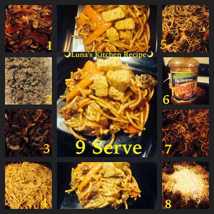 Home Made Healthy Version of Hamburger Helper   Ingredients are: 90/10 ground hamburger, wheat pasta, 75% fat free extra sharp cheddar and mozzarella cheese, white onion, portobellos mushrooms, red, yellow and orange green peppers, Ragu Spaghetti Sauce and Tomato paste. For seasonings: Adobo, garlic powder, red pepper flakes, Italian mixed seasoning and pepper.