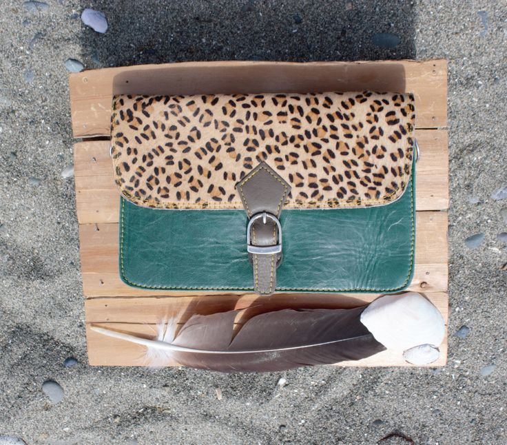Beautiful Sustainable Fur and Leather Purse handbag clutch crossbody bag by…