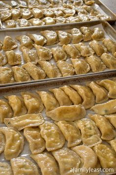 Pierogi - A 100+ year old family recipe for traditional stuffed dumplings.  Recipe includes four different and delicious stuffing options! #recipe #pierogi