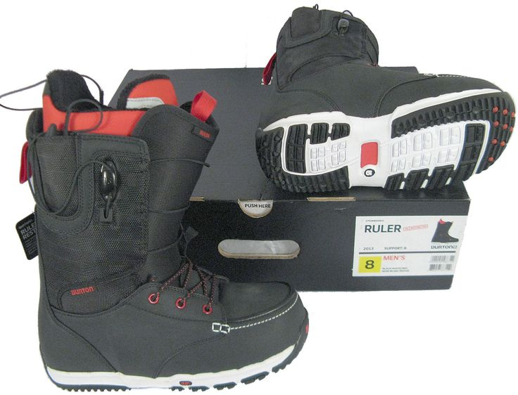 Boots 36292: New! Burton Ruler Restricted Mens Snowboard Boots! *Black* *Size 7.5* -> BUY IT NOW ONLY: $129.99 on eBay!
