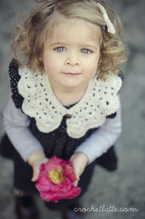 Crochet Collar Pattern. Also I need this child.