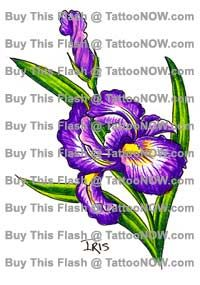 purple iris tattoo | Purple Iris Tattoos | Choosing The Right Tattoo For You - Tattoo ...