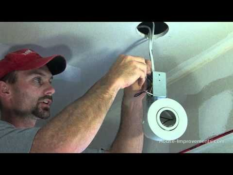How to install recessed/can lights. http://youtu.be/QxFKerMIjDM