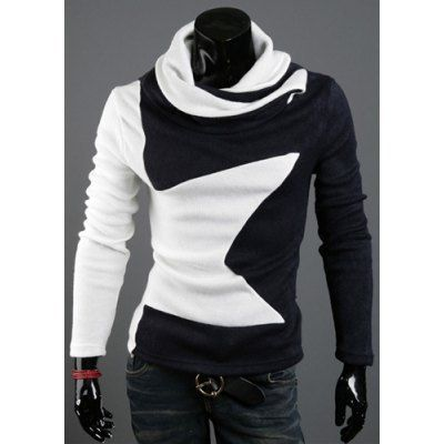 Type: Pullovers  Material: Cotton Blends  Sleeve Length: Full  Collar: Turtleneck  Technics: Computer Knitted  Style: Fashion  Weight: 0.310KG  Package Contents: 1 x Sweater  Our SizeBustLengthShoulder WidthSleeve Length M86634260 L90654361 XL94674462 2XL98694563