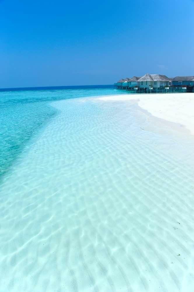 Maldives Lovely Peaceful Ocean Sea Blue.