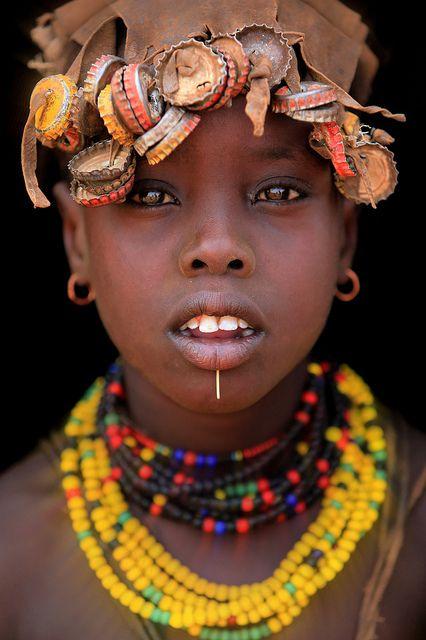 Africa   Dassanech portrait. Omo Valley,   © Claude Gourlay