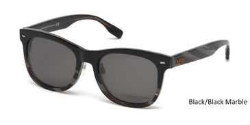 Black Front Black Marble Temple Zegna Sunglasses ZC0001. Color code: 05D