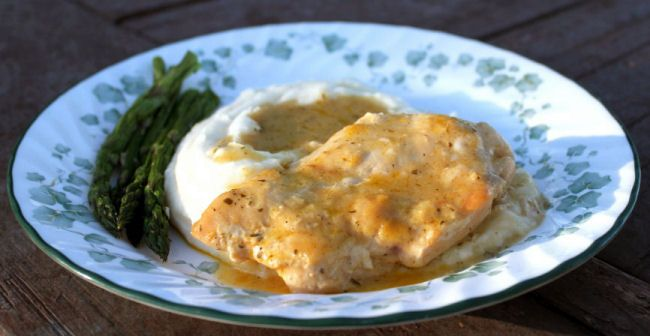 creamy ranch chicken with garlic mashed potatoes