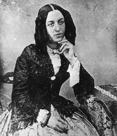 George Sand (1804-1876) an amazing author, personality, and all-around woman. She earned as much notoriety for her Bohemian lifestyle as for her written work. Born Aurore Dupin, she was the most famous woman writer in 19th-century France.
