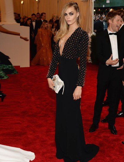 Cara Delevingne wearing Burberry The Met Ball 2013: Punk: Chaos To Couture | ELLE UK