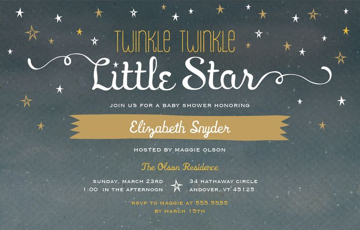 Twinkle Twinkle Little Star Baby Shower | Vistaprint