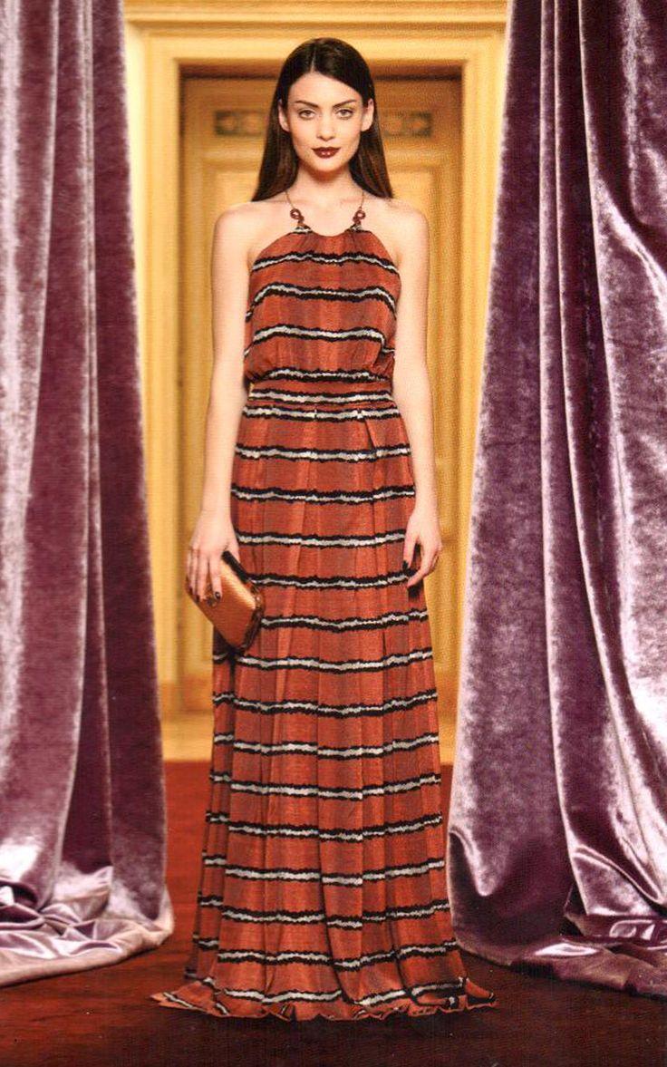 #RobertoCavalli #Cavalli #ClassbyRobertoCavalli #Prefall #striped #floorlength #gown