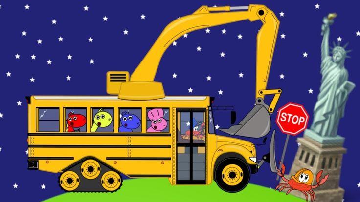 Wheels On The Bus | Excavator for Kids | Nursery Rhymes - Koparki Bajki