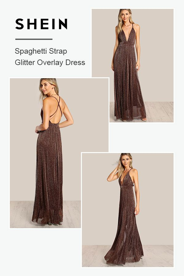 8eff839d Spaghetti Strap Glitter Overlay Dress | Love to Wear in 2019 | Fashion  dresses, Dresses, Dress skirt
