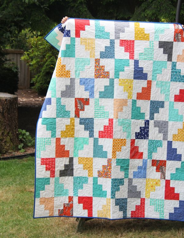 "I really love the pattern and colors in ""Hello August"" 