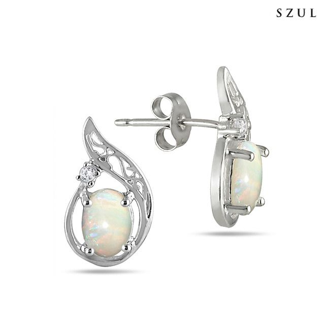 1 Carat Oval Opal and Genuine White Diamond Earrings in Sterling Silver Opal is said to possess healing powers; luck and love are believed to be obtained by those who wear it. And with its rainbow like hues and smooth surface, who wouldn't love to wear opal jewelry? This beautiful gemstone shines and sparkles, especially in the light. So whether you or a friend's birthday is in October, or you just simply love the color, we suggest adding this stunning piece of opal jewelry to your…