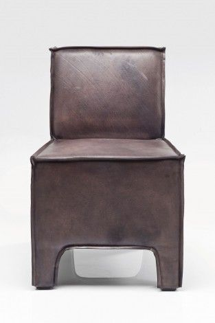 KARE Prague - Padded Chair Cube Buffalo Brown