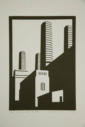Paul Catherall linocuts exhibition at Paul McPherson Gallery, London | Art | Wallpaper* Magazine: design, interiors, architecture, fashion, art