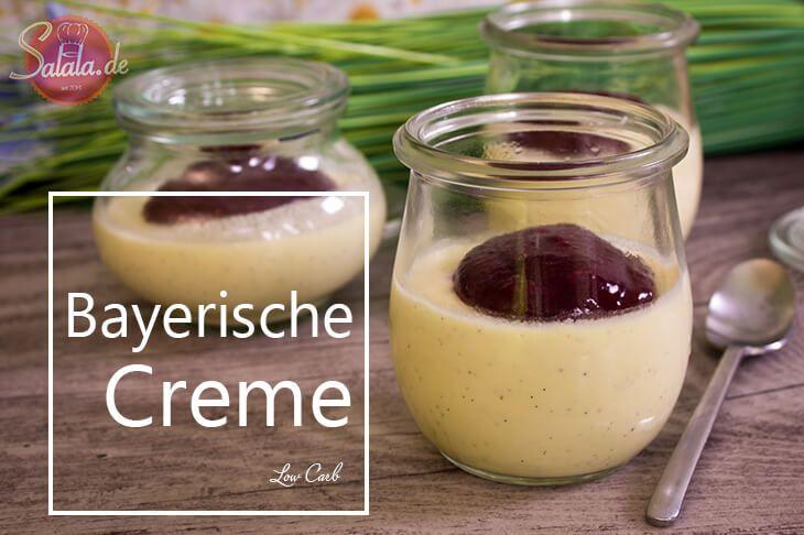 Bayerische Creme, low carb, glutenfrei und zuckerfrei. Herrlich süß, cremig, vanillig. Super vorzubereiten und perfekt für Gäste :)