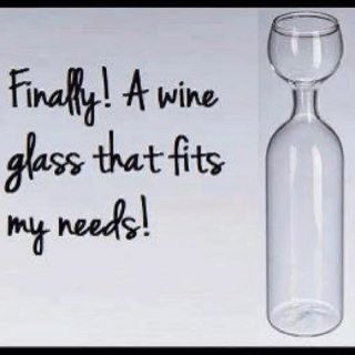Wine Glass; I need this!!!