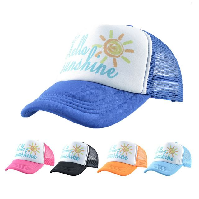 7df0e845c Hello Sunshine Kids Cap Baby Baseball Cap Summer Mesh Girls Cap ...