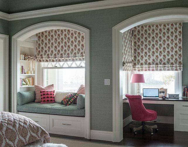 I love these two lovely cubbies.  Placed in one's bedroom would make your own haven to relax, work and sleep in.   Adorable.