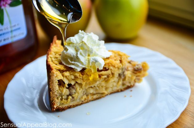 Honey Szarlotka or Polish Apple Pie with Honey, Nuts, and Raisins | R ...