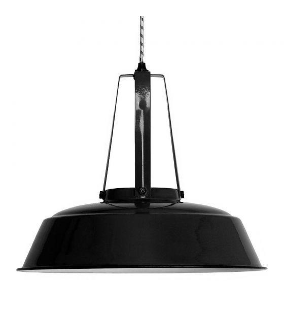 Hk living hanglamp zwart metaal Ø45x40cm, industriële lamp ...