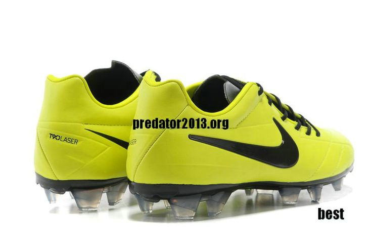 Cheap Football Cleats 2013 Nike Total 90 Laser IV FG Cleats - Fluorescent Green Black