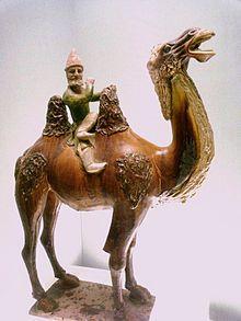 Westerner on a camel - Rota da Seda – Wikipédia, a enciclopédia livre