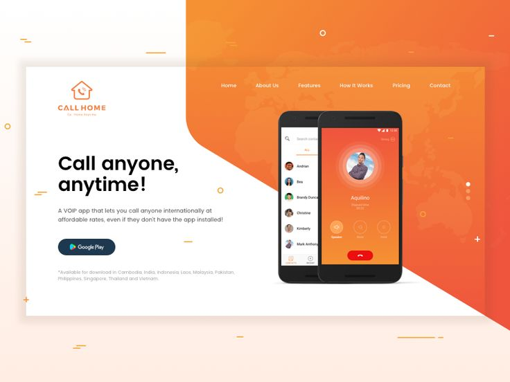 31 best minisite images on pinterest internet marketing online this idea was done for a landing page of a voip mobile app that lets you call anyone internationally at affordable rates even if they dont have the app fandeluxe Image collections