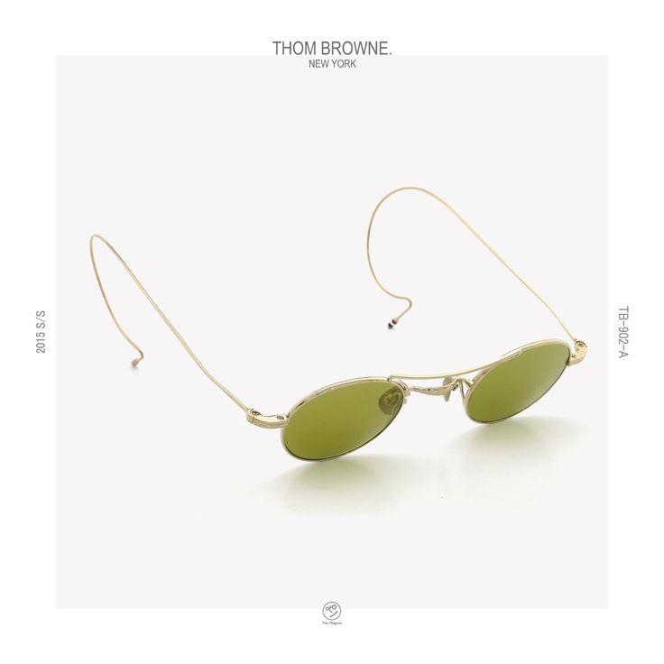 THOM-BROWNE_2015ss_TB-902-A-GLD_40size   PonMegane #thombrowne #eyewear #sunglass #2015ss #tb902 #ponmegane