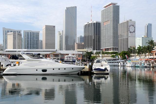 Yacht Boat Marina Bayside (Miami, Florida)