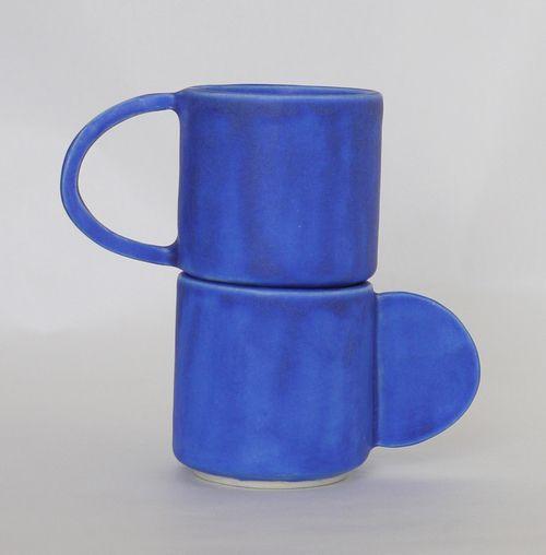 Stackable espresso set in our favorite blue : The Granite