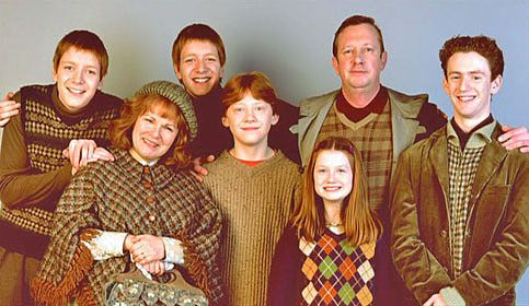 Weasley is the surname of a pure-blood family (though the most recent generation has many non-pureblood members). The Weasleys know many other wizarding families, including the Blacks, Prewetts, Longbottoms, Crouches, Delacours, and Potters, as well as the Muggle Granger family. All members of the Weasley family are red-haired and Sorted into Gryffindor upon attendance of Hogwarts School of Witchcraft and Wizardry. The family home, known as the Burrow, is located just outside Ottery St...