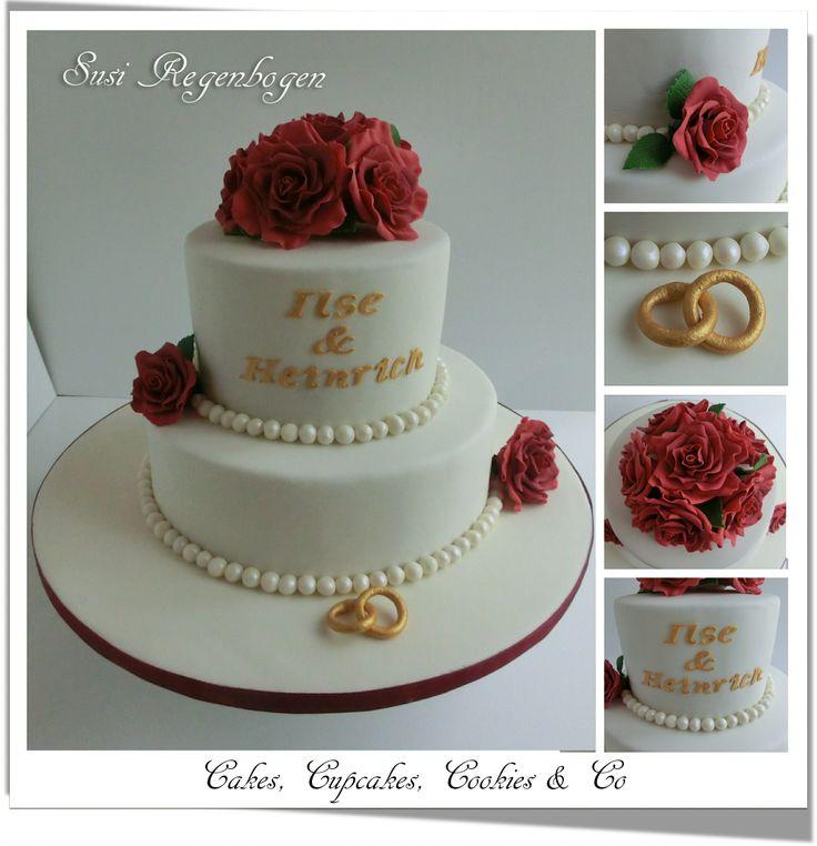 Diamantene-Hochzeit-Torte / Diamond-Wedding-Cake