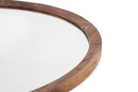 round timber mirror - Google Search