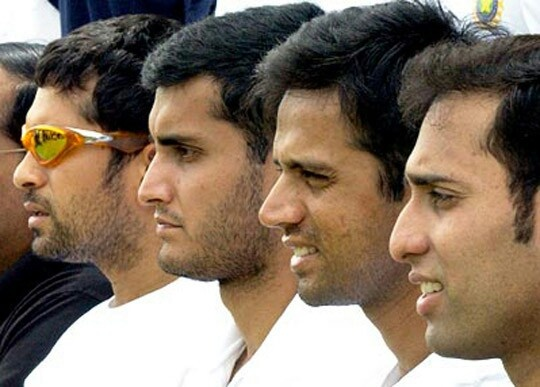 The Fab Four of Indian Cricket - never to be repeated...
