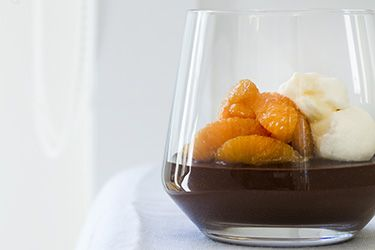 Bitter chocolate creme with caramelised oranges – Recipes – Bite